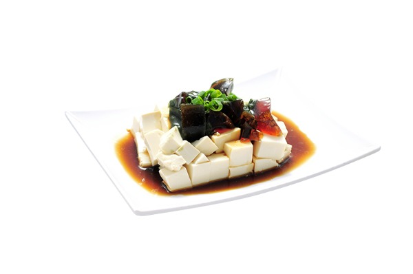 Tofu with Preserved Eggs 皮蛋豆腐