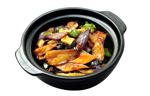 Yu-Shiang Eggplant in Casserole (Sautéed with Spicy Garlic Sauce) 鱼香茄子煲