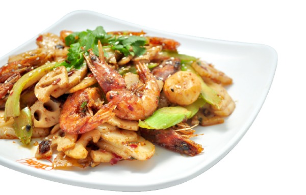 Fried shrimps in Hot Spicy Sauce 招牌香辣虾