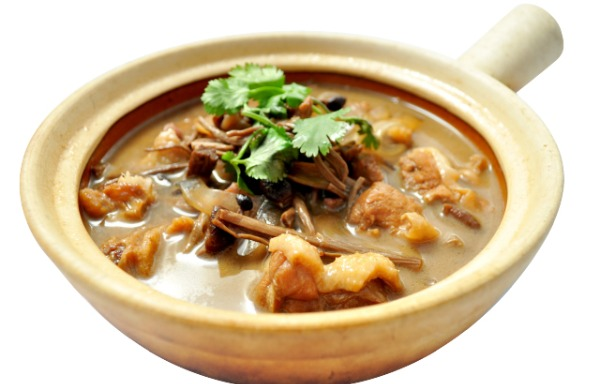 Stewed Chick with Mushroom 小鸡炖蘑菇
