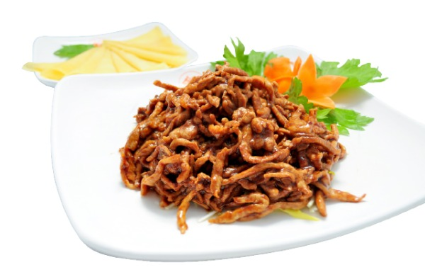 Sautéed shredded pork in sweet Bean Sauce 京酱肉丝