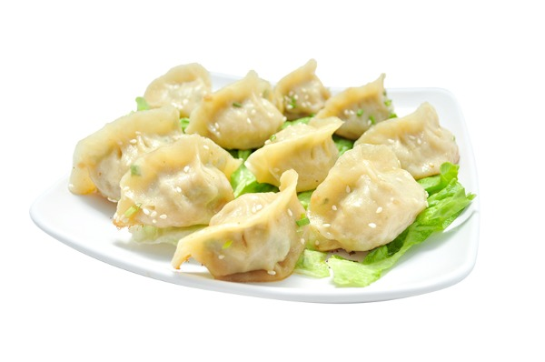 Ravioli stuffed with sanxian 煎饺三鲜