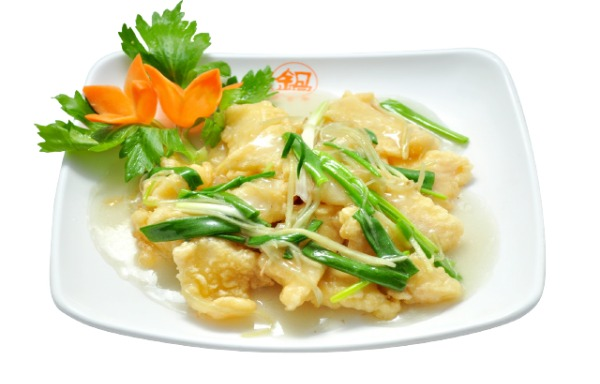 Fried fish Fillet with ginger and scallion 姜葱炒鱼片