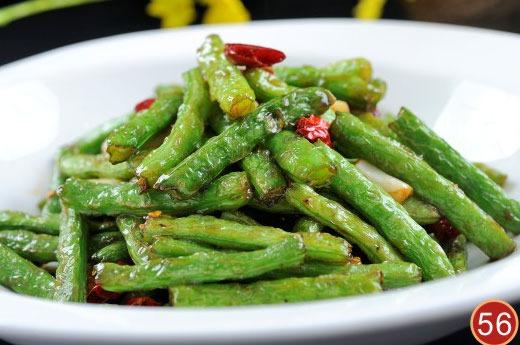 干煸揽菜四季豆 Haricots vert sauté au porc haché