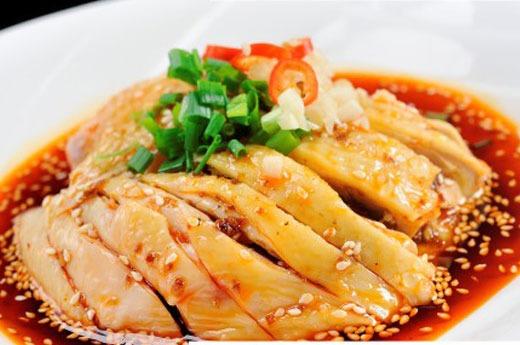 口水鸡 Salade poulet à la sauce piquante