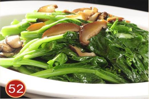 香菇青菜 Choux chinois sautés aux champignons