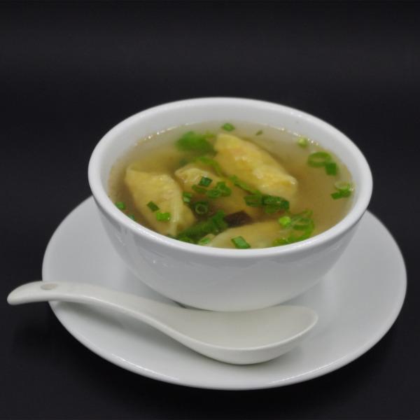 Soupe raviolis crevettes