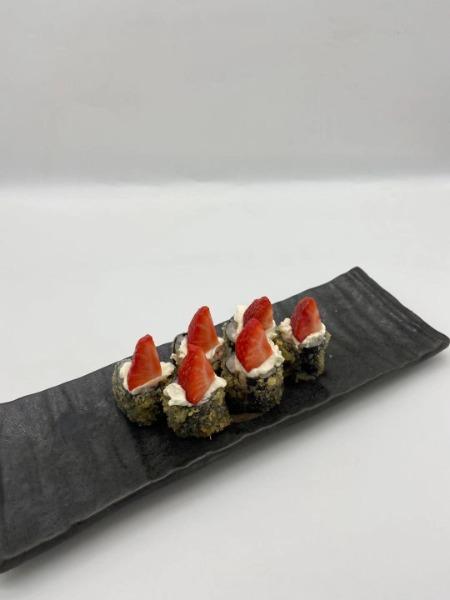 Hosmaki fritto con la fragola (6 pezzi)