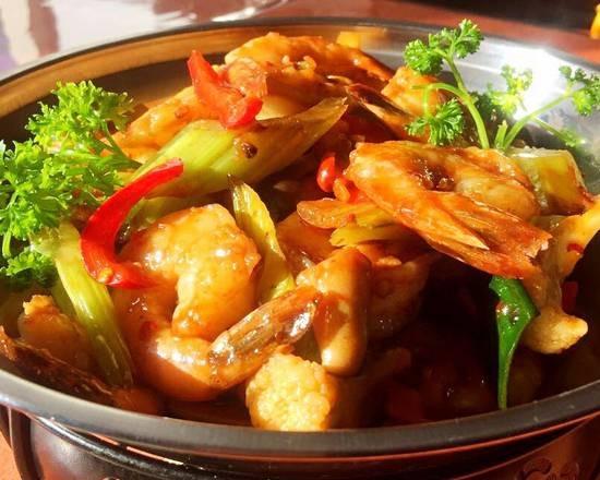 Crevettes hot pot🌶️