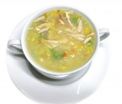 4.Potage de poulet et maïs-
