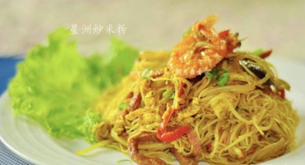 Vermicelles au Singapour (crevettes)