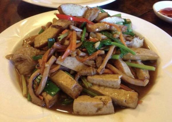 Légumes et tofu sautés