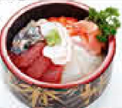 MJ20 Chirashi mixte, assortis de poissons sur riz vinaigré