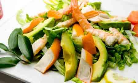 SC3 Salade de crevettes, surimi et avocat