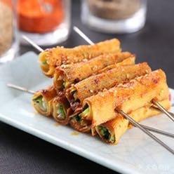 烤豆腐香菜卷