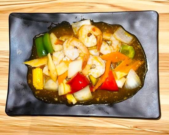 Crevettes au curry 🌶🌶