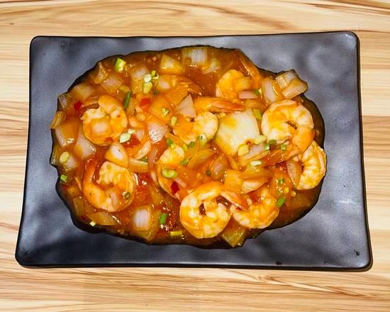 Crevettes à la sauce piquante 🌶🌶