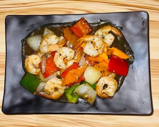 Crevettes sauce poivre noir 🌶🌶