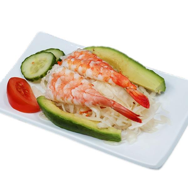 H20-salade de chou aux crevettes et avocat