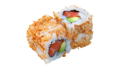 40:Croquant roll saumon avocat