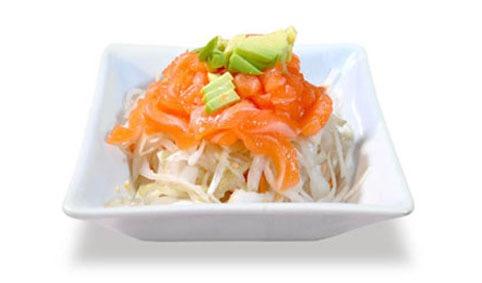 3:Salade tartare de saumon et avocat choux blanc