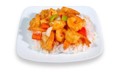 H3:Crevettes à la sauce épicée