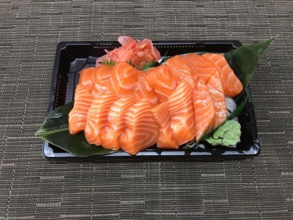 Menu sashimi saumon