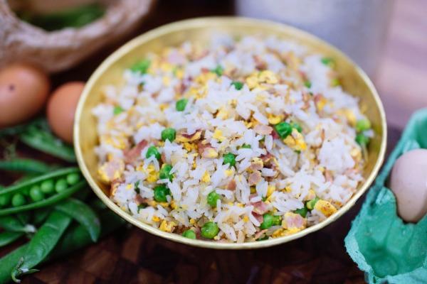 Riz cantonnais au jambon