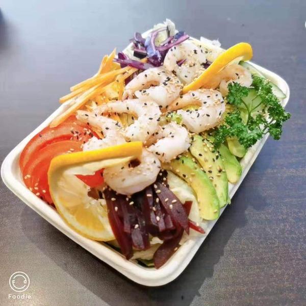 (NOUVEAUTE ) Maxi salade fraicheur aux crevettes + 1 boisson offerte