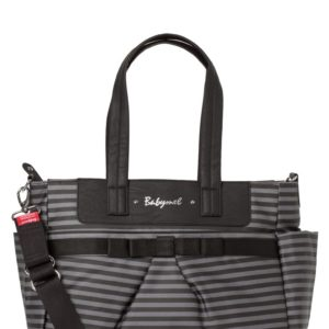 Babymel - Cara Stripe Grey and Black-0