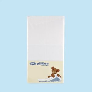 DK Glovesheet 100% Cotton Fitted Sheets - Crib Size Up to 95cm x 40cm-0
