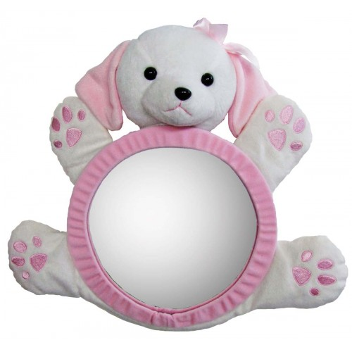Happy Mummy Car Mirror - Pinky Pup-0