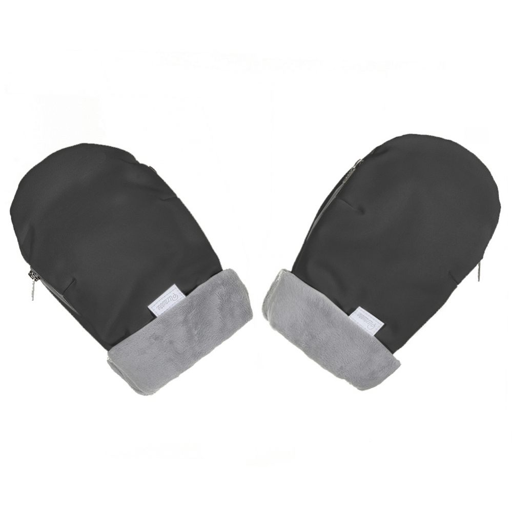 Uzturre Mittens Hand Gloves - Black/Grey -0