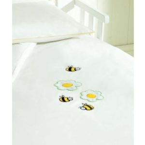 Saplings Cot Bed Duvet Cover And Pillowcase - Honey Bee-0