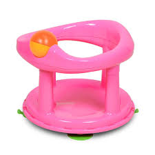 Safety 1st swivel Bath Seat - Pink-0