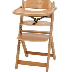 Safety 1st Timba Wooden Highchair - Natural-0