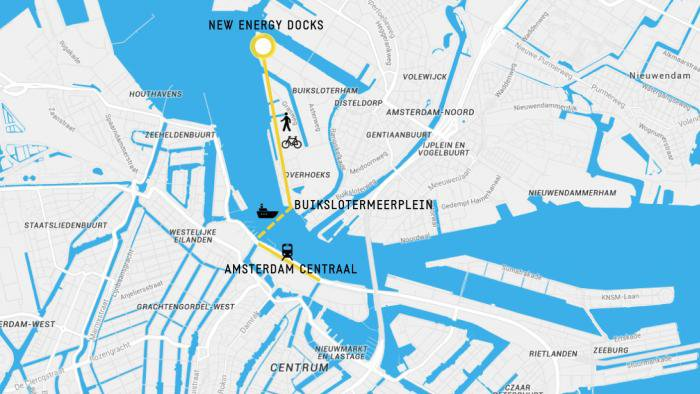 Google Map of New Energy Docks, Distelweg 451, 1031 HD Amsterdam